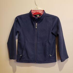 LL.Bean boys navy fleece full zip jacket